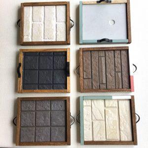 ハウスクリア岡山 サイディングボード(外壁材)のサンプルで作るインテリアトレイ